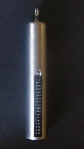 Stainless Steel Cylindrical Downrigger Weight  with Dual Scale (C/F) Thermometer